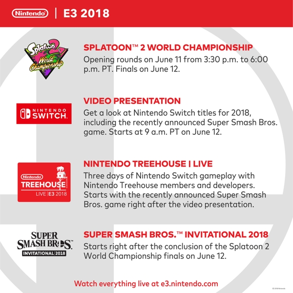 Nintendo Releases E3 2018 Plans and Schedule