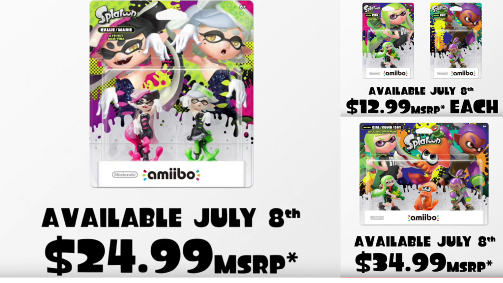 New Splatoon amiibo Wave Announced