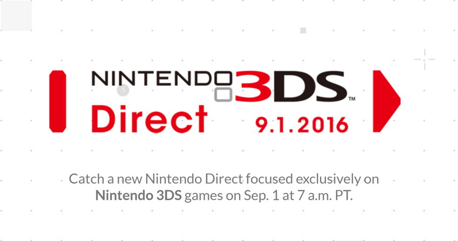 A Special 3DS Exclusive Nintendo Direct is Scheduled for September 1