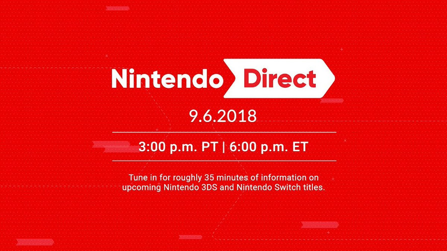 UPDATE: A Nintendo Direct is Coming September 6
