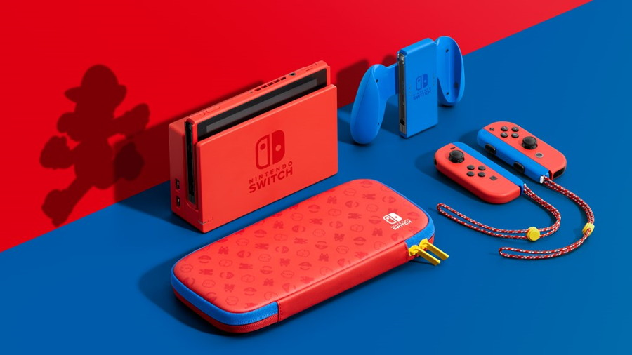 Mario Red and Blue Nintendo Switch Console Revealed