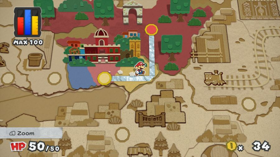 Paper Mario Color Splash Screenshot