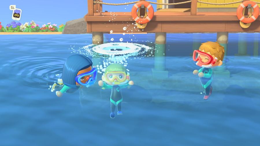 Animal Crossing Diving Update