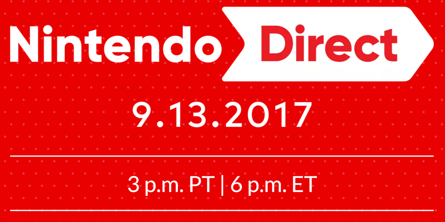 45 Minute Nintendo Direct Will Air on September 13