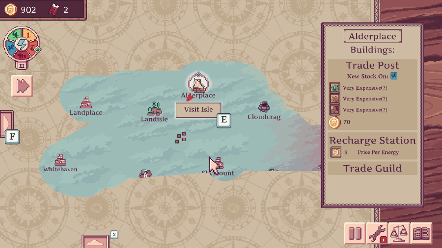 Merchant of the Skies Map