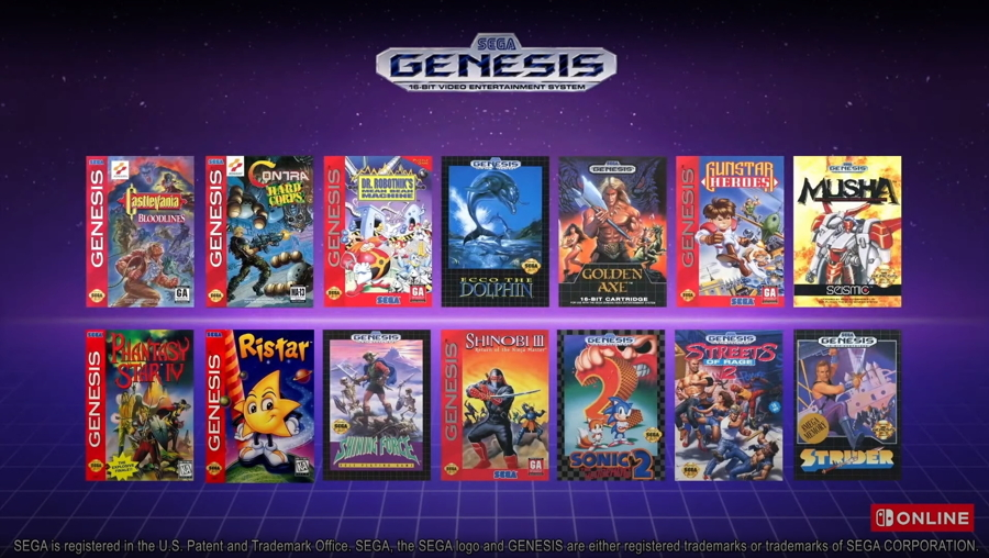Nintendo Switch Online Sega Genesis