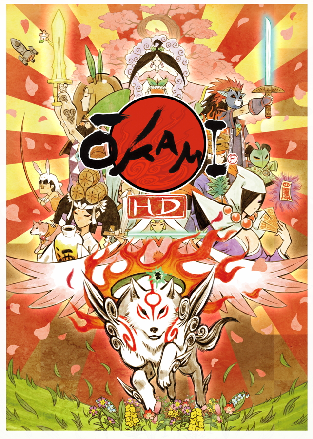 Okami HD Switch Artwork