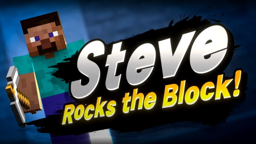Super Smash Bros Ultimate Minecraft Steve