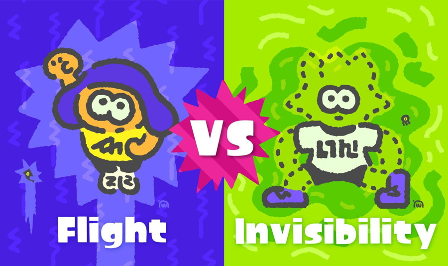 Flight and Invisibility Will be Pit Against Each Other in the Next Splatfest