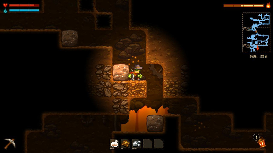 Steamworld Dig Switch Screen on Universal Backup Light Switch