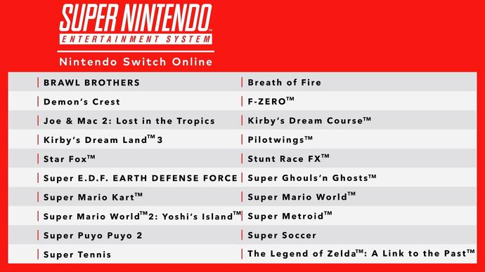 Switch Online SNES Games