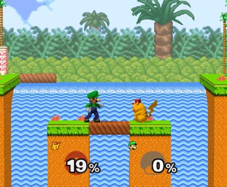 Luigi Smash Bros Melee