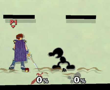 Mr. Game and Watch Smash Bros Melee